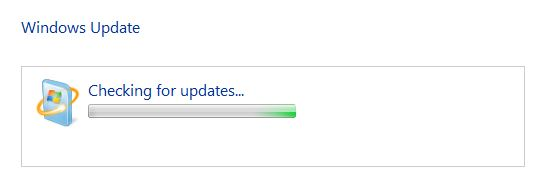 Hung on checking for updates