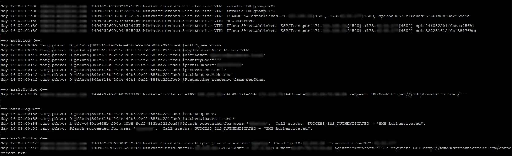Azure Multi-Factor Authentication with Meraki Security
