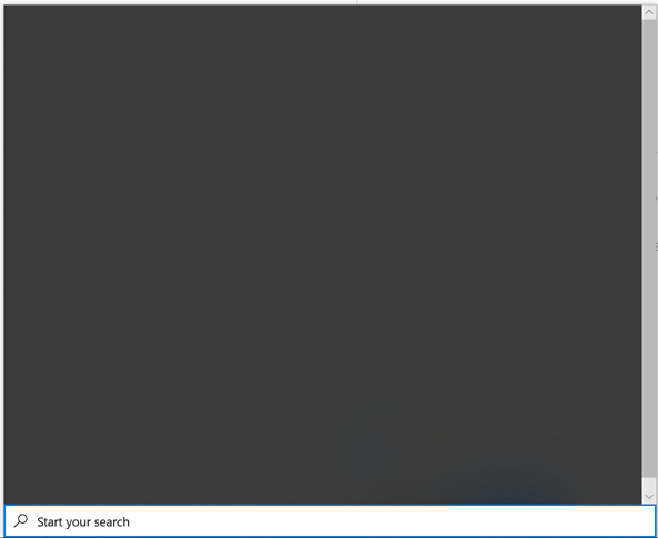 Windows 10 Search Blank