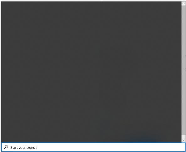 Windows 10 Search Blank